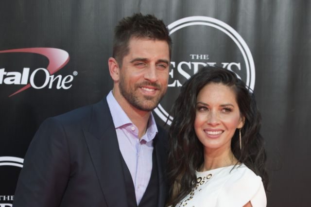 Aaron Rodgers with ex-girlfriend Olivia Munn